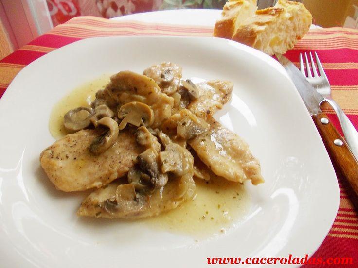 Filetes de pollo en salsa con champiñon. (By Ovi) - CACEROLADAS