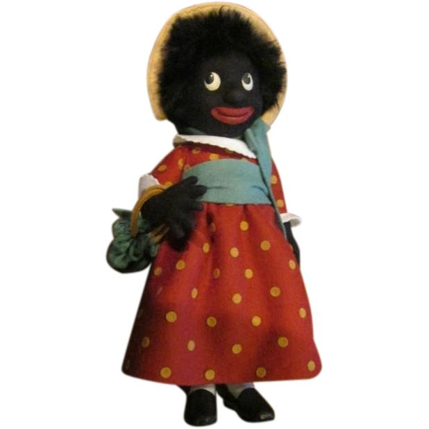 Captivating Golliwog girl doll by R.John Wright limited edition from jmenagerie on Ruby Lane