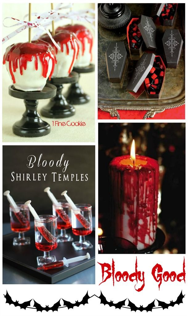 Vampire Dracula Party Decor Food Drink Ideas foxhollowcottage.com
