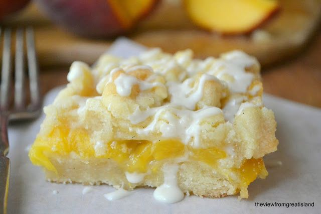 Jack Daniel's Peach Pie Bars - The View from Great Island Anything with Jack Daniels in it has got to be good!