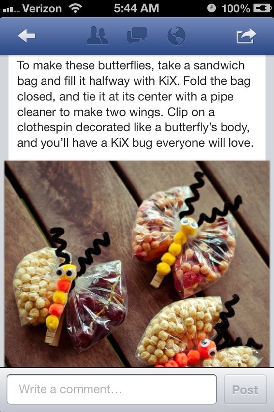 butterfly snacks for kiddos