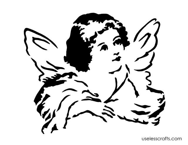 Victorian Angel – FREE stencil pattern