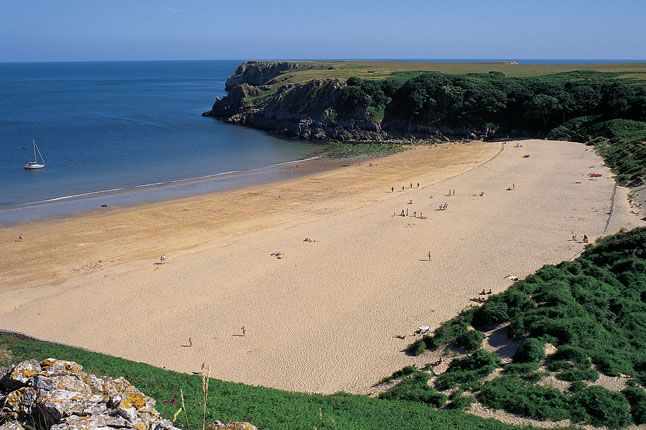 Best Beaches in Britain | Barafundle Bay, Pembrokeshire, Wales,   (Condé Nast Traveller)