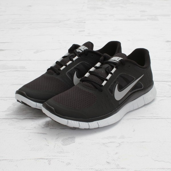 Nike Free Run+ 3 Black/Reflective Silver-Platinum sneakers