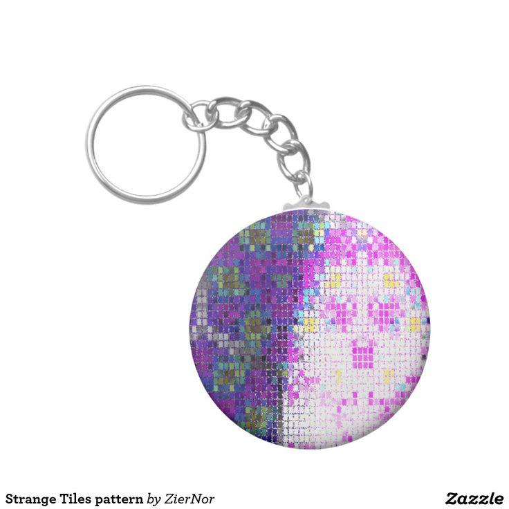 Strange Tiles pattern Basic Round Button Keychain