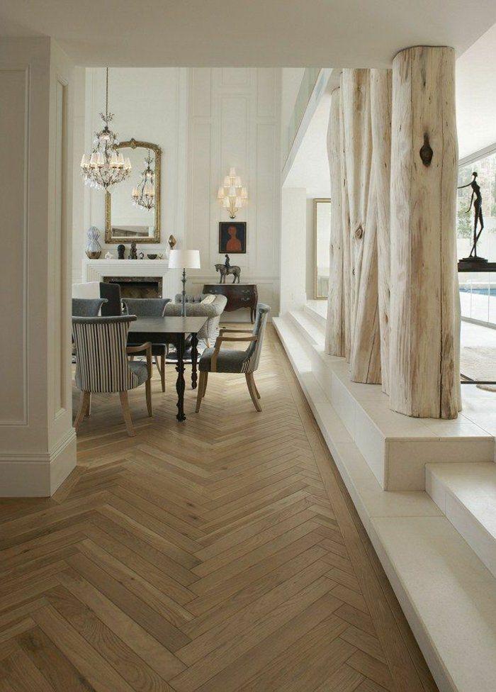 joli salon de luxe avec sol en planchers en bois clair - Un Salon De Luxe