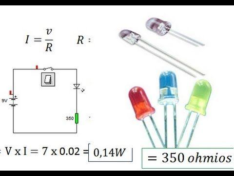Calculo de la resistencia del LED
