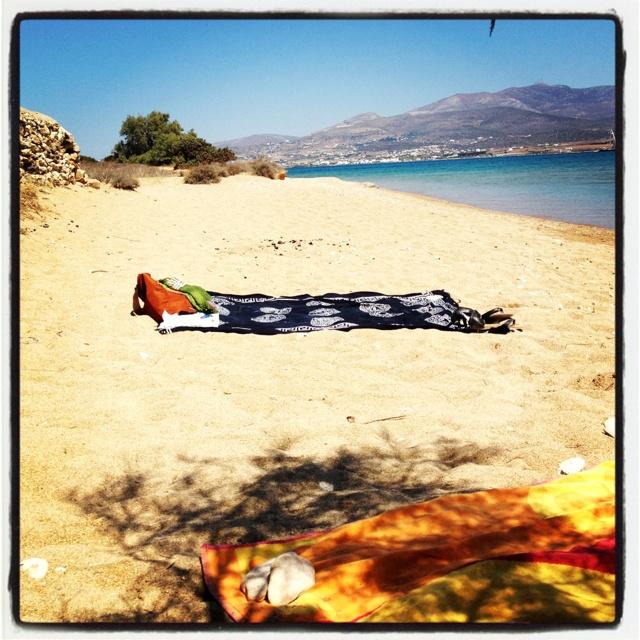 Under the Greek sun, next to Greek sea water. Antiparos island, Greece!