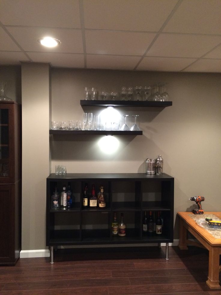 ikea hack bar using kallax unit and lack shelves for the home pinterest partykeller. Black Bedroom Furniture Sets. Home Design Ideas