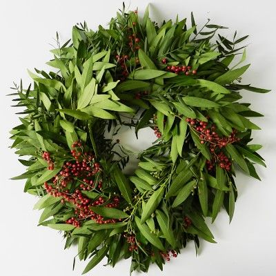 Bay Leaf & Pepperberry Wreath #williamssonoma