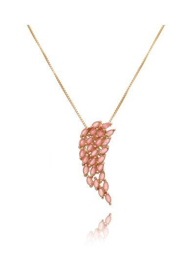 Colar-pingente-de-asa-rubi-leitoso-banho-de-ouro-rose-semijoia   Joias    Pinterest 8942f82254