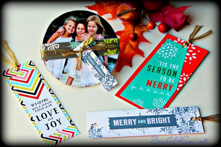 Zensible Mama: DIY: Bookmarks From Repurposed Christmas Cards