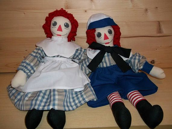 PDF How to make Raggedy Ann Doll - Andy. Raggedy Ann - Andy Stuffed Dolls and  Clothes.   PDF Pattern download.  Instructions also English.