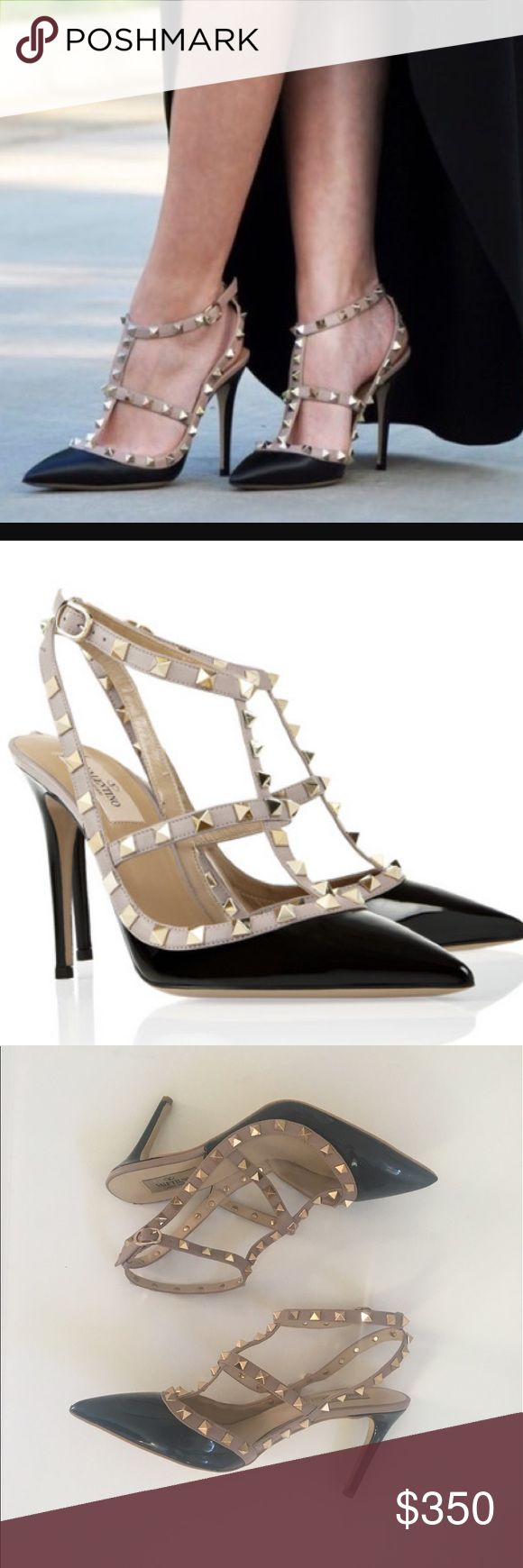 """100% Authentic Valentino Studded Pumps These are the most amazing """"IT"""" girl shoes you will ever own! Always classic, and always making a statement, just like you. 3.5"""" heel. 100% real and authentic Valentino shoes in pretty much perfect condition! Valentino Shoes"""