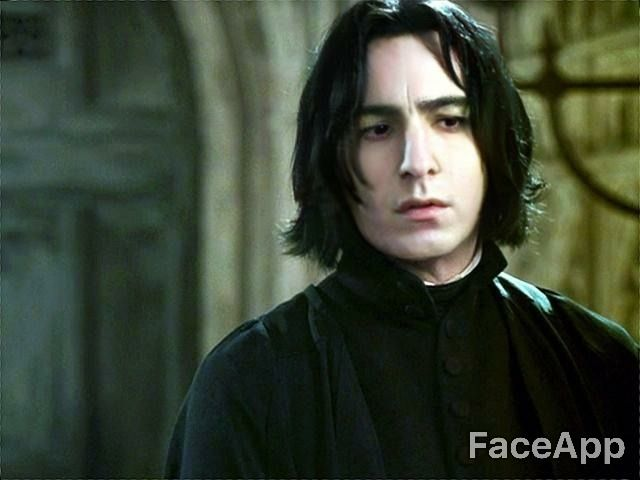 Severus My Only Prince Soo I Took The Beauty App And Made Severus Younger I Know Somebody Did It Before Harry Potter Severus Snape Harry Potter Snape Harry