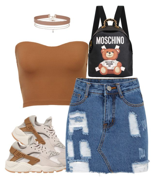 """Untitled #988"" by mindless-asia ❤ liked on Polyvore featuring Moschino, NIKE and Miss Selfridge"