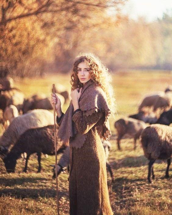 d35660433 rustique ↟ 500px.com by photographer david dubnitskiy (girl sheep retro  vintage shepherd nature fall)