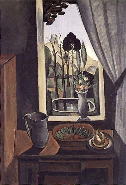 ANDRE DERAIN La Fenetre sur le Parc (Window on the Park, 1912).PinIt : Anónimo de Piedra
