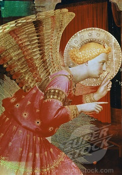 Angel Of The Annunciation - Detail C.1432/1433 Fra Angelico (ca.1395-1455 Italian) Tempera/wood Panel Museo Diocesano, Cortona, Italy (900-122805 / 900-122805 © SuperStock): Art Therapy, Angelico Ca 1395 1455, Jewelry Design, Heavens Art, C 1432 1433 Fra, Http Liciadesign Com, Angels Sculpture Art, Fra Angelico, L Art