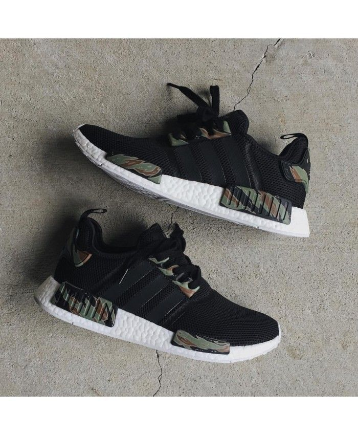 3959a3cdb8e7 Adidas NMD R1 Black Camo Shoes Absolutely authentic