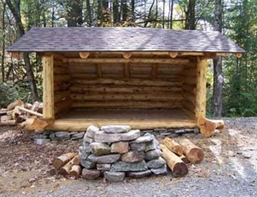 log shelters | Adirondack Lean Tos Adirondack Gazebos Cabins Custom Built Adirondack ...