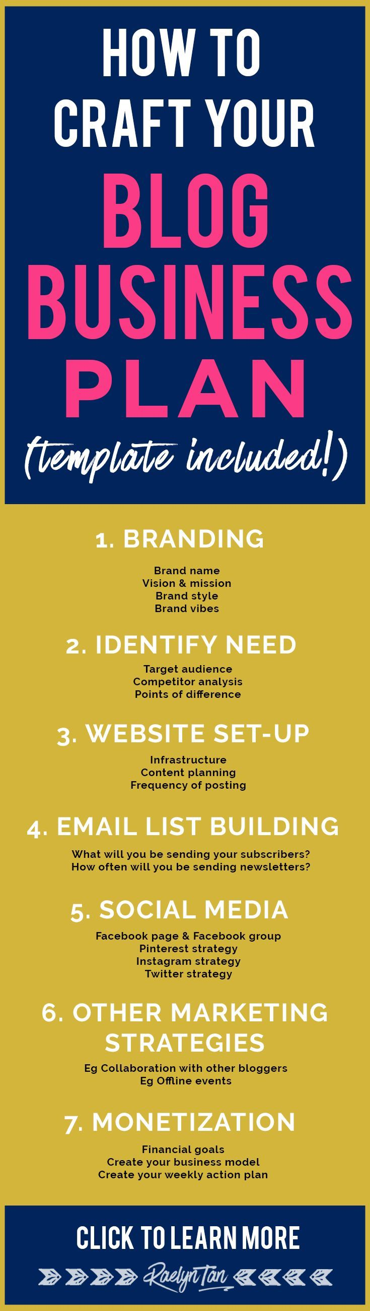 How to craft your blog business plan, with free printable template included for all entrepreneurs! Make money in your biz, sell products and rock social media with this blog business plan.