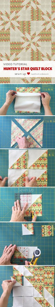 Video tutorial: Hunter's star quilt block                                                                                                                                                                                 More