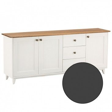 Maine 3 Door 3 Drawer Large Sideboard Charcoal
