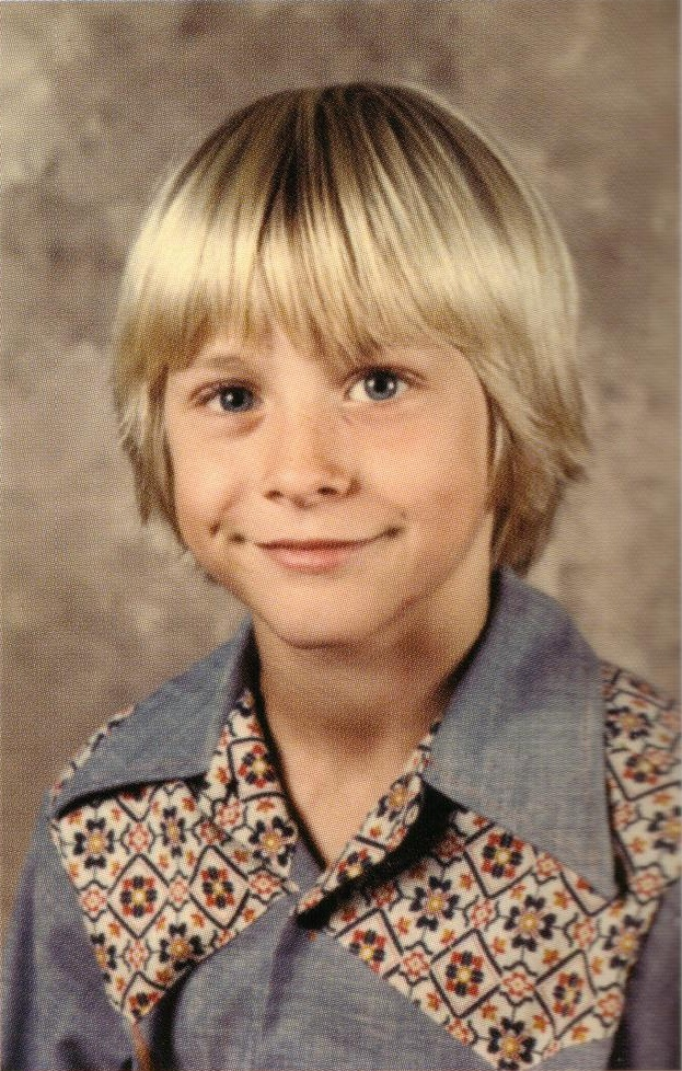 Young Kurt Cobain. At this time he had no idea of his fate yet his eyes still look sad...