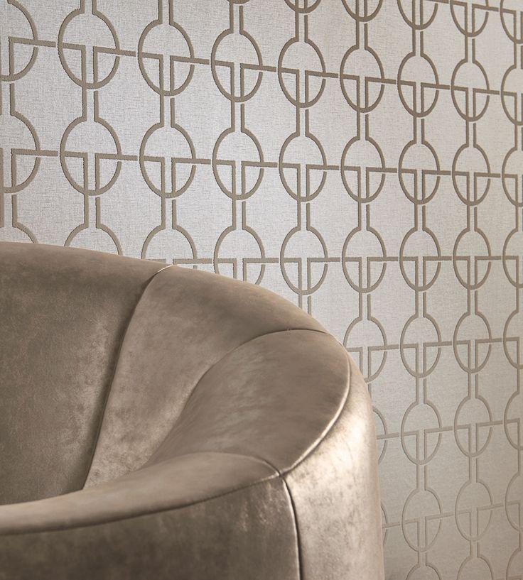 Contemporary Geometrics | Zurs Wallpaper by Zinc | Jane Clayton