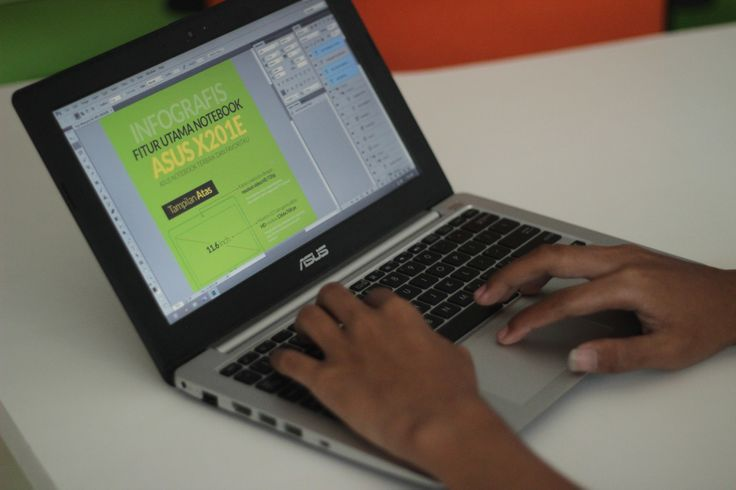 Kinerja notebook terbaik ASUS X201E ketika menjalankan aplikasi desain Photoshop CC