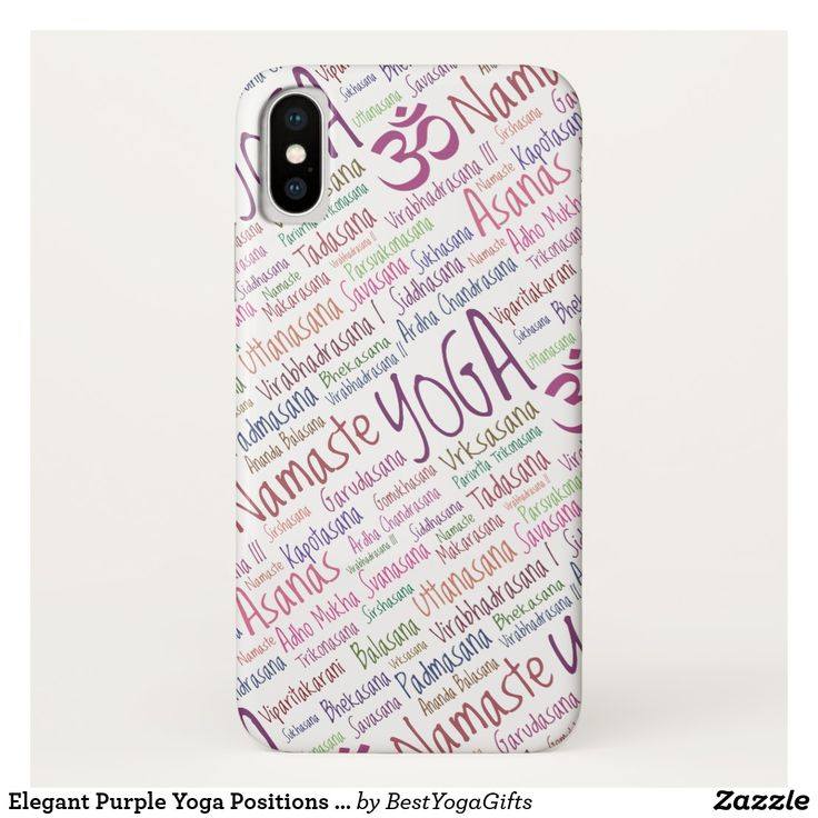 Elegant Purple Yoga Positions Word Cloud Pattern Barely There iPhone 6 Case