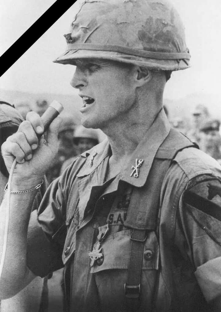 "Harold Gregory ""Hal"" Moore, Jr., lieutenant colonel in command of the 1st Battalion, 7th Cavalry Regiment, at the Battle of Ia Drang, has died aged 94. RIP. - ""I can't promise you that I will bring you all home alive. But this I swear, before you and before Almighty God, that when we go into battle, I will be the first to set foot on the field, and I will be the last to step off, and I will leave no one behind. Dead or alive, we will all come home together. So help me, God!"""