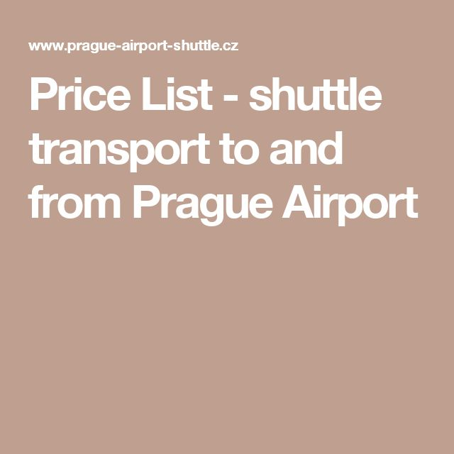 Price List - shuttle transport to and from Prague Airport