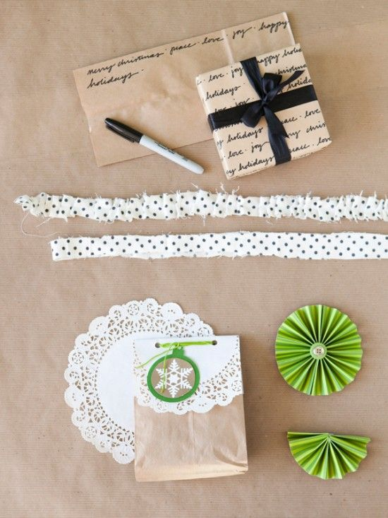simply pretty gift wrapping with paper lunch bags