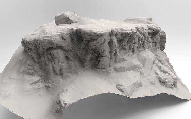 Rock/Terrain Speed sculpt studies, Jared Sobotta on ArtStation at https://www.artstation.com/artwork/rock-terrain-speed-sculpt-studies