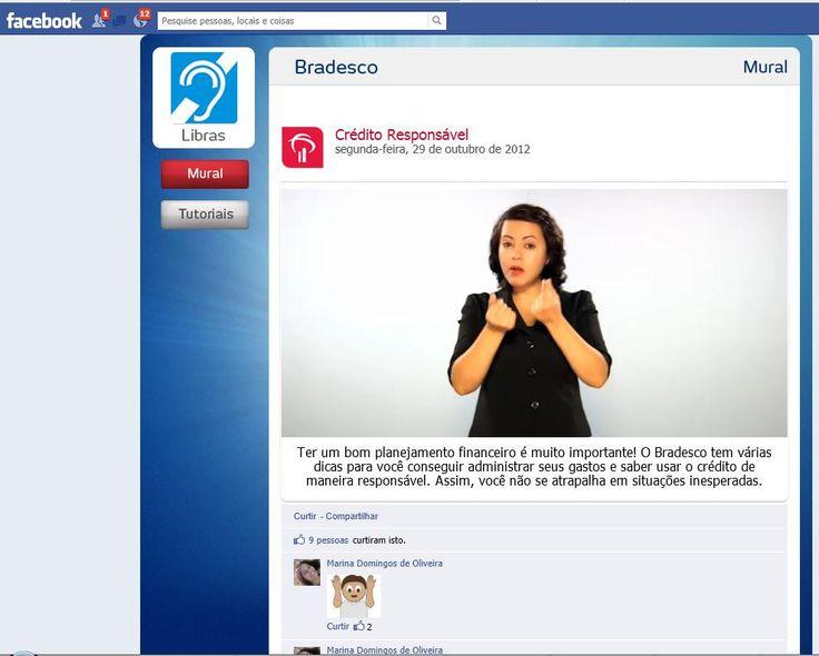 Facebook do Bradesco tem vídeos em linguagem de sinais para deficientes auditivos - Web Expo Forum 2012