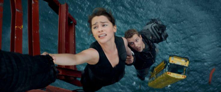 Jai Courtney and Emilia Clarke in Terminator Genisys (2015)