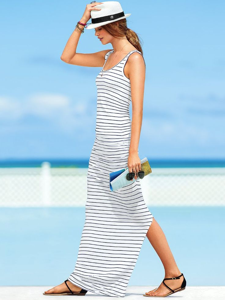 The ease of a tank meets the elegance of a long, lean skirt. | Tank Maxi Dress