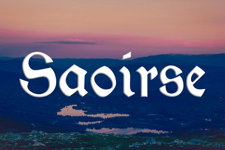 19 Celtic Names So Beautiful You'll Want To Have Children. Meaning: Freedom