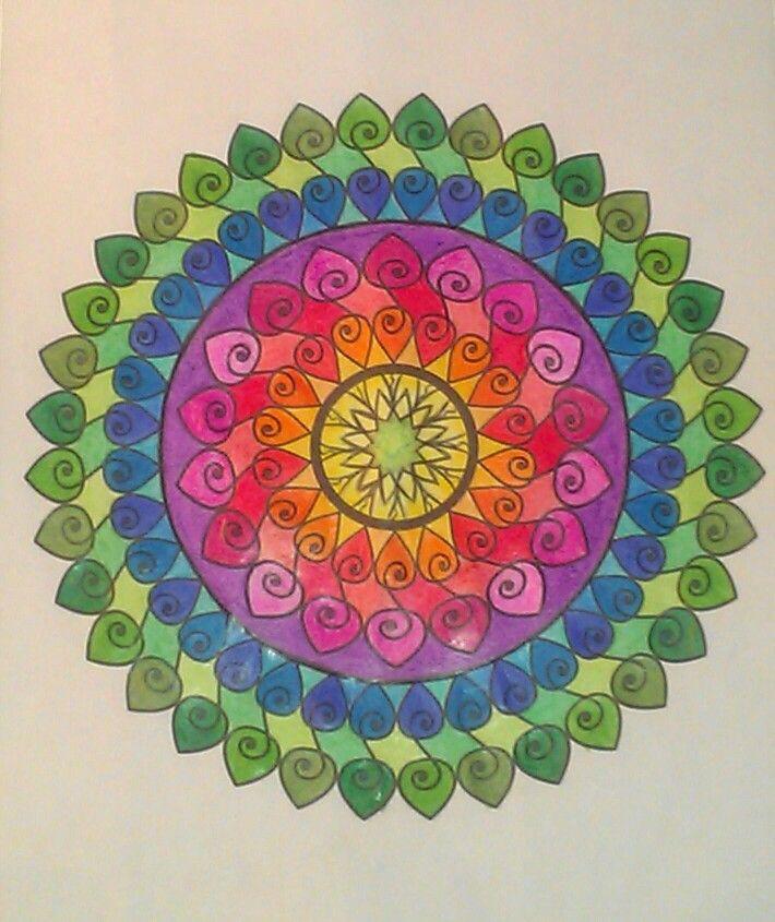 Color, completed, crayola, crazart, mandala, just add