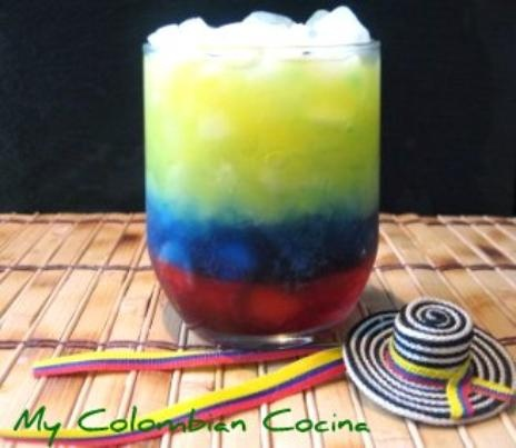 Colombian Flag Cocktail