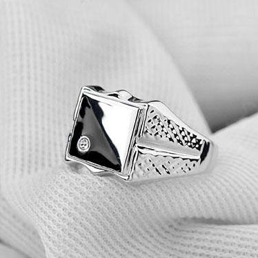 2015 Fashion Italina Jewelry Men Ring Plated Luxury Mini CZ  Man Wedding Rings