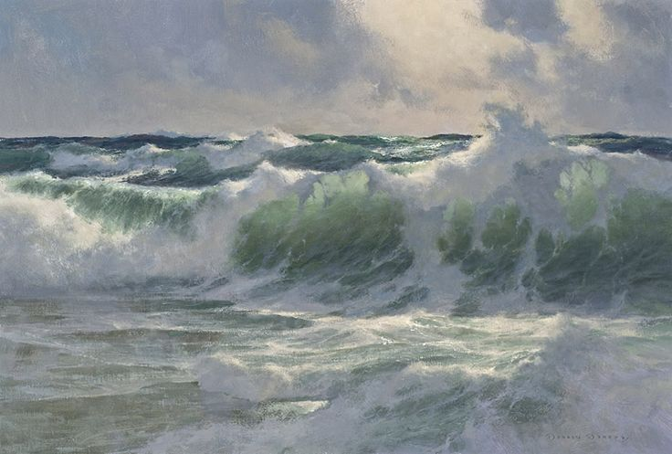 "The Paintings of Donald Demers ""Breaking in the Light"" 24x36 oil...stunning!"