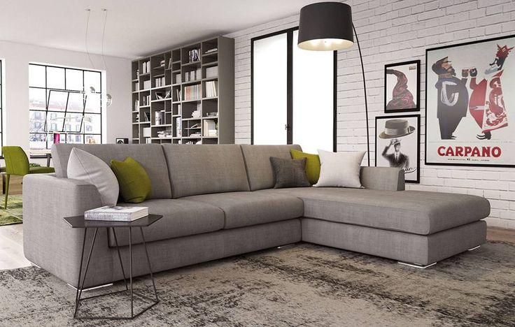 MONACO Divano ad angolo, per una personalità industrial/loft! #LaCasaModerna #Design #Sofas ● lacasamoderna.com