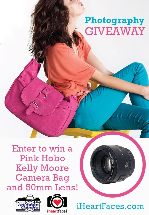 Kelly Moore Camera Bag and 50 mm Camera Lens Giveaway on iHeartFaces.com from Arlington Camera! (Value of $568) Giveaway ends on March 9, 2014.