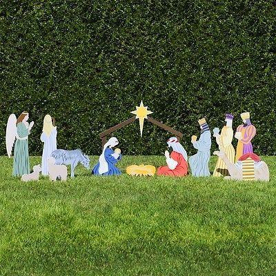 Classic Outdoor Nativity Set Full Scene Christmas Holidays Religious Display