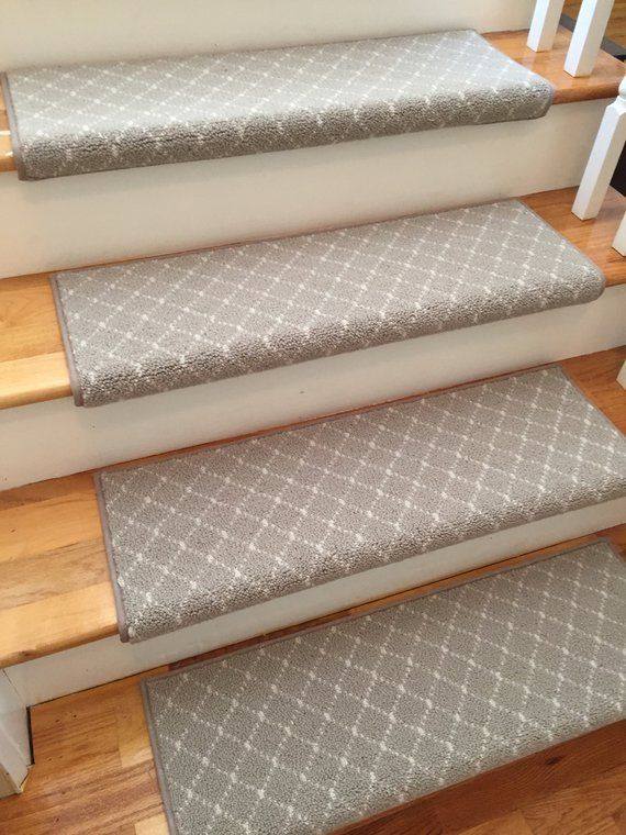 Luxury Distinctive Taupe 100 New Zealand Wool True Bullnose | Stair Treads For Carpeted Stairs | Wood Stairs | Laminate | Anti Slip Stair | Basement Stairs | Skid Resistant