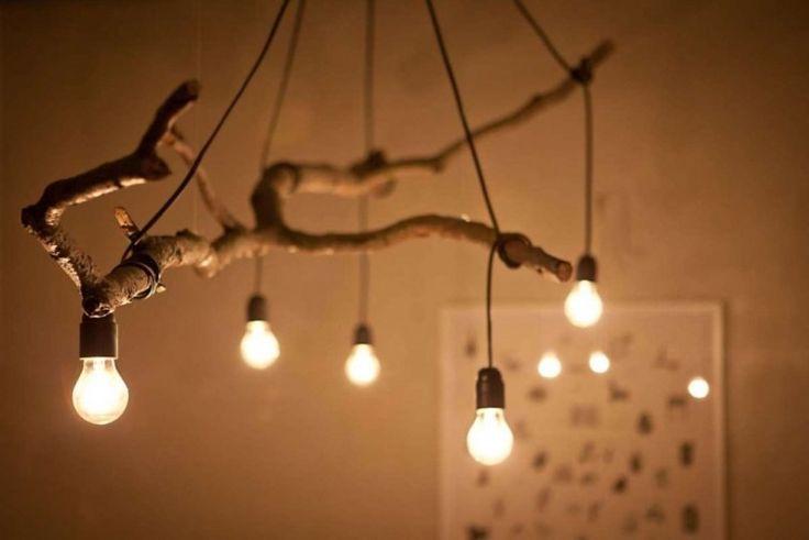 ideas de decoración y reciclaje natural lamparas