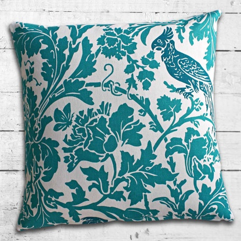 Cushions from Cushionopoly - Look at the Birdy Aqua/Blue cushion cover. From the Beach House collection.